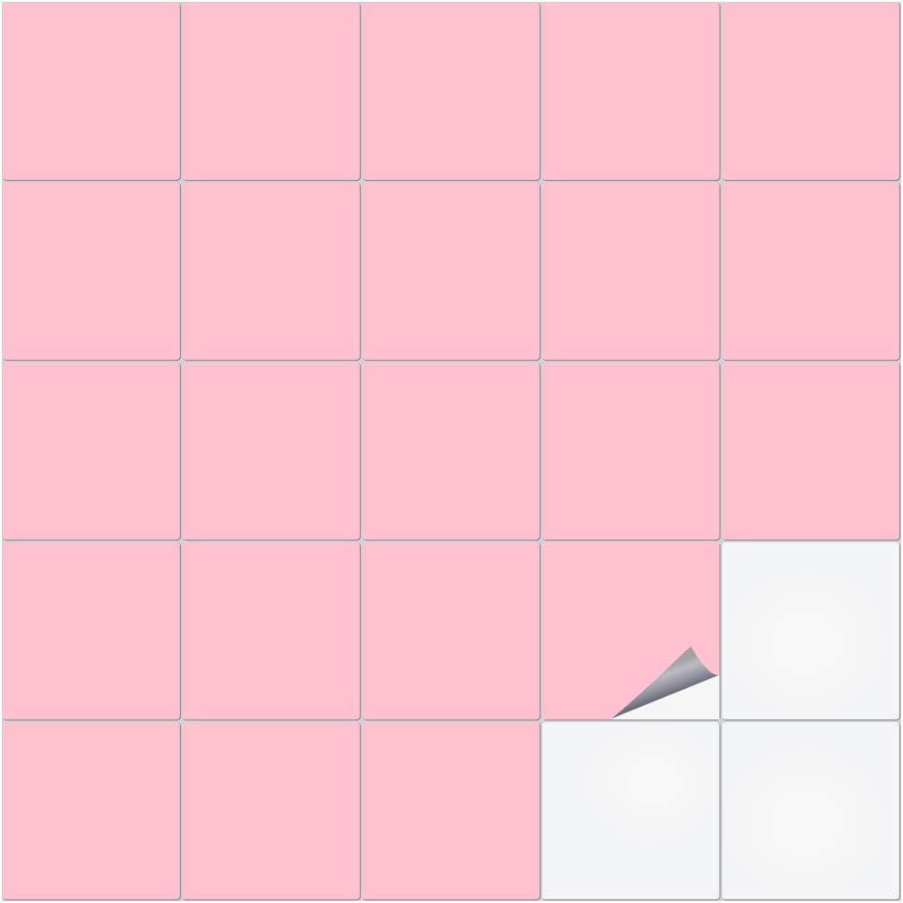 Pastellrosa alle Fliesen und Gr/ö/ßen matt 9.5 x 9.5 cm 36 St/ück timalo/® Fliesenaufkleber f/ür K/üche und Bad