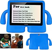 Y&M(TM)Samsung Galaxy a Tab Kids Case ,Childproof Shockproof Drop Resistance Portable Handle Lifeproof Protective Case Tablets Cover for Samsung Galaxy Tab 2 P5110 P5100 10.1 inch/Tab 3 P5200 P5210 10.1 inch - Blue