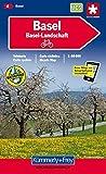 Radwanderkarte Basel - Aarau 1 : 60 000 (Kümmerly+Frey Velokarten)