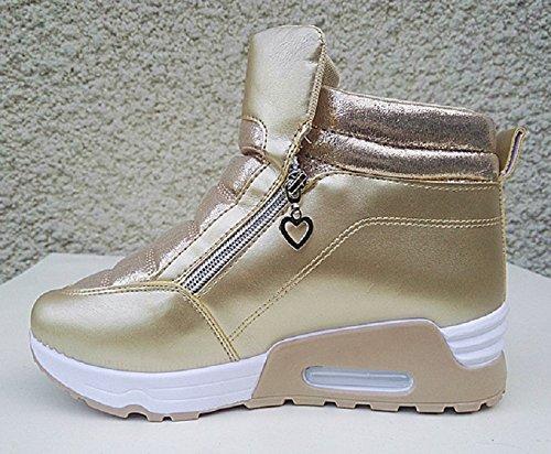 fashionfolie - Zapatillas de deporte de Material Sintético para mujer marrón marrón aj9k9G