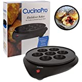 Doughnut Maker & Ebelskiver Pan Baker- Electric Cooker for Donut Holes and Cake Pops with Non-stick Surface