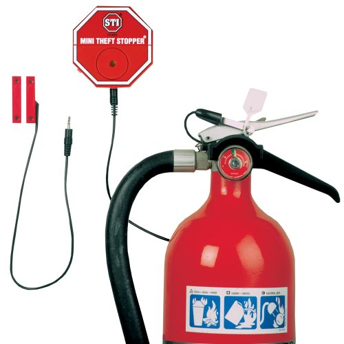 Photo - Safety Technology International, Inc. STI-6255 Mini Theft Stopper, Alarm Helps Prevent Misuse of Fire Extinguishers, Free-Standing or Cabinet Mounted