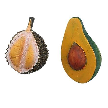 MUYU Magnet Imán para Nevera Durian Avocado 3D, decoración del ...