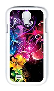 Samsung S4 Case,VUTTOO Cover With Photo: Colorful For Samsung Galaxy S4 I9500 - PC White Hard Case