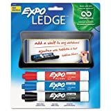 Mountable Whiteboard Ledge with 3 Markers, Set, Sold as 1 Set, 6PACK , Total 6 Set