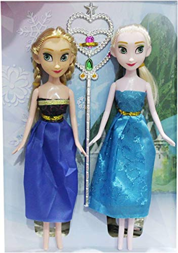 Buy Thunderstar Disney Frozen Fashion Anna Elsa Sister Doll with Magical Wand Dolls Games Fun Online at Low Prices in India - Amazon.in