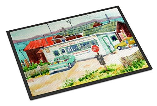 Caroline's Treasures Tacoma Beer and Boiled Shrimp Market Indoor or Outdoor Mat 18x27 6141MAT 18