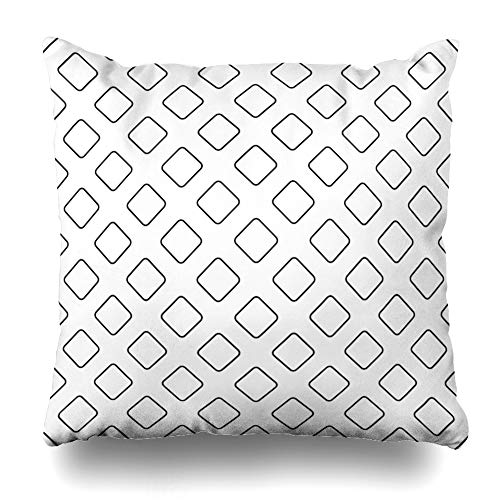 (KJONG Rhombuses Bezels Background Surface Pattern Design Zippered Pillow Cover,18 x 18 inch Square Decorative Throw Pillow Case Fashion Style Cushion Covers(Two Sides Print))