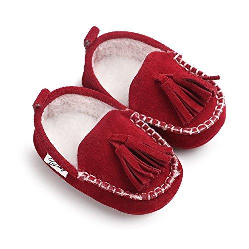 Moresave - botas de nieve Bebé-Niños Rojo