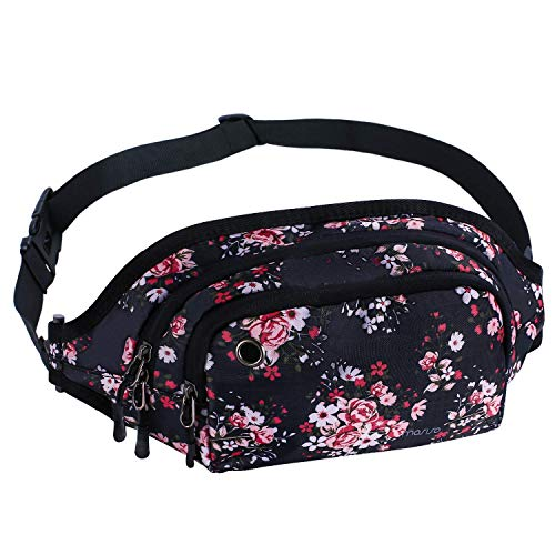 a84e83384562 Mosiso Waist Pack, Polyester Water Repellent Unisex Sports Running Belt Bum  Bag Fanny Purse Pouch with Adjustable Band for Men Women Girls Boys ...