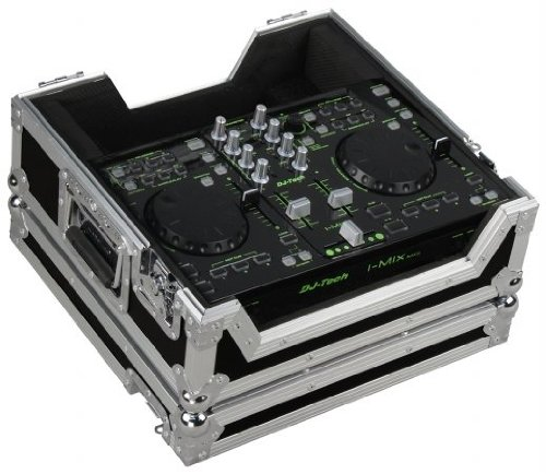 Marathon Flight Road Case MA-DJTIMU2LTBLK Black Series - Case To Hold 1 X Djtech ImiX, ImiX Reload, U2 Station Digital Music Controller with Laptop Shelf