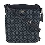 Coach Madison Swingpack In Needlepoint Op Art Fabric Silver/Black, Bags Central