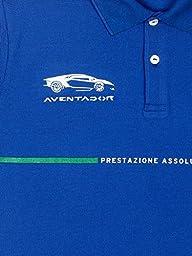 Automobili Lamborghini Mens Aventador Polo Shirt M Blue