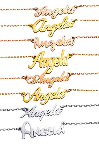 HUAN XUN Personalized Customized Name Initial Necklace Monog