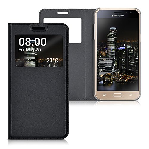 Cheap Flip Cases kwmobile Practical and chic FLIP COVER case with window and synthetic leather..