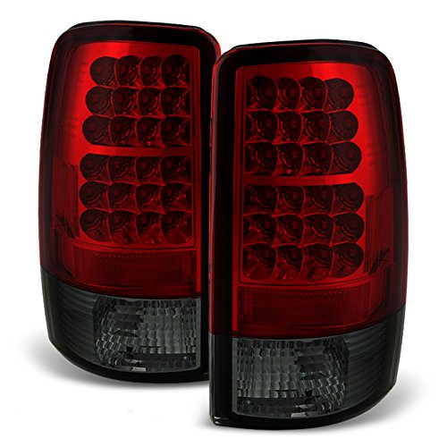 - For 00-06 Suburban Taho Yukon Yukon Denali Red Smoke LED Tail Lights Brake Lamps FOR LIFTGATE MODEL