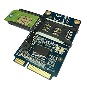 Mini PCIe a copia de seguridad Lector de tarjetas SIM Smart ...