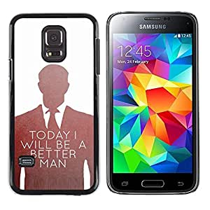 A-type Colorful Printed Hard Protective Back Case Cover Shell Skin for Samsung Galaxy S5 Mini / Samsung Galaxy S5 Mini Duos / SM-G800 !!!NOT S5 REGULAR! ( Be Better Man Suit Vignette White )