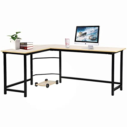 office desk small space fumtc office desk computer lshsaped gaming corner writing for small amazoncom