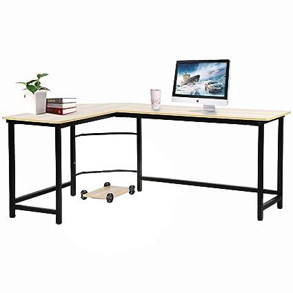 Office Desk Computer Desk L-Shsaped Desk Gaming Desk Corner Desk Writing  Desk for Small Space