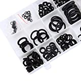 Yookay 225-Piece O-Ring Kit Rubber Washer Seals Assortment Set for Insulation Gasket Washer Seals Faucet Shower Head/Caddy Car Vehicle Replacement