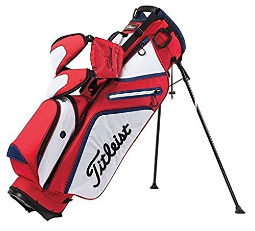 Titleist Ultra Lightweight Stand Bag, Red/White/Navy by Titleist (Image #1)