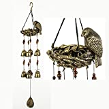 BWinka Newest Birds and Nest Wind Chime 12 Pieces Bronze Bells Amazing Grace