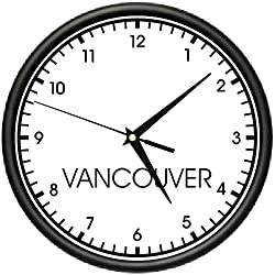 SignMission Vancouver Wall World time Zone Clock Office Business, Beagle