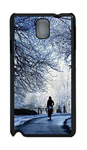 Samsung Galaxy Note 3 N9000 Cases & Covers -Winter Road Scene Custom PC Hard Case Cover for Samsung Galaxy Note 3 N9000¨CBlack