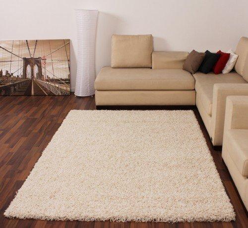 Shaggy Creme Hochflor Langflor Teppich UNI Ivory TOP PREIS NEU*, Grösse:60x110 cm