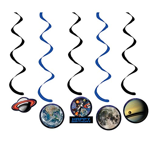 Creative Converting Space Blast Dizzy Danglers with Cutouts (5 Count) -