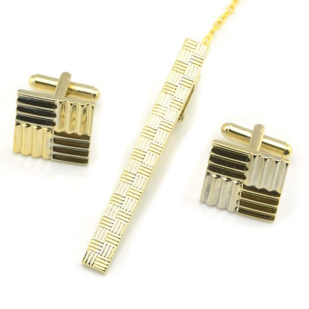 HONG-Accessories Cufflinks - Juego de Sujetadores de Corbata para ...