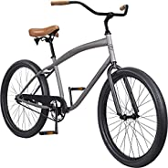 Pure Cycles Men's Cruiser Bicycle, 26-Inch Wheels/17.5-Inch F