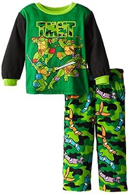 Teenage Mutant Ninja Turtles Little Boys' Camo Masks Cozy Fleece Pajama Set