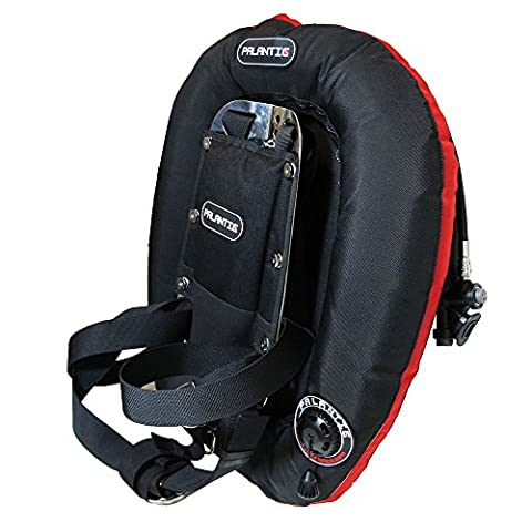Palantic Xtreme Donut Wing Double Tank with SS Backplate and Harness Basic Set, 40-Pound - Backplate Wing