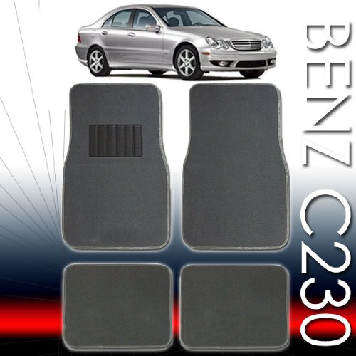 QULAITY UNIVERSAL CARPET CAR FLOOR MATS SET FOR MERCEDES C230 AND ALL OTHER SMALL AND MID SIZE CARS WITH BOUNS 24 DISCS CAPACITY CD WALLET
