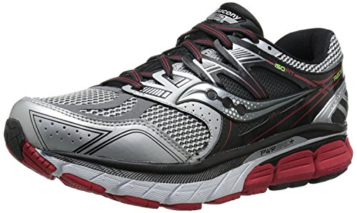 Saucony Mens Redeemer ISO Road Running Shoe, Argento/Nero, 41 2E EU/7 2E UK