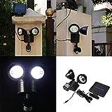 LED Solar Double Headlights Wall Light Human Induction Sensor Motion Waterproof Outdoor Garden Lamp Emergency Lighting LED