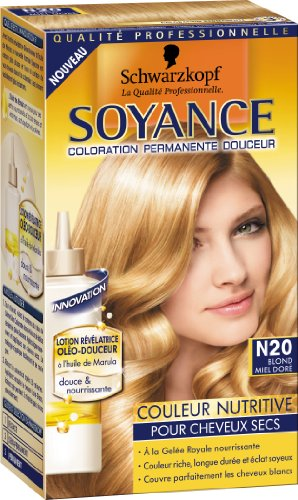 schwarzkopf soyance coloration permanente couleur nutritive blond miel dor n20 amazonfr hygine et soins du corps - Coloration Blond Miel