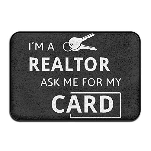 Real Estate Realtor Im A Realtor Ask Me Non Slip Doormat Entrance Mat Floor Mat Rug Dirt Trapper Mats 15 7 X23 6