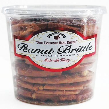 Brittle-Brittle Gourmet Peanut Brittle 42oz (pack of 2) (Old Fashioned Peanut Brittle)