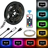 Bias Lighting for HDTV, Searik TV Backlight Kit (78 in / 2m) USB LED Light Strips RGB Lights Neon Accent Backlighting with Remote Controller for Flat Screen TV LCD, Desktop PC Monitors