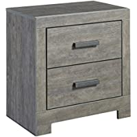 Ashley Culverbach Two Drawer Nightstand Weathered Driftwood in Gray