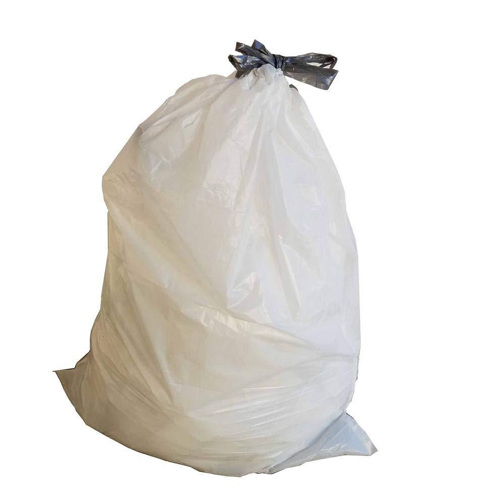 Code H カスタムゴミライナー ホワイト 巾着ゴミ袋 30~35リットル 8~9ガロン 200個 B07GV789WN