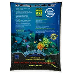 Worldwide Imports AWWA10741 2-Piece Live Aragonite Sand, 20-Pound, Black