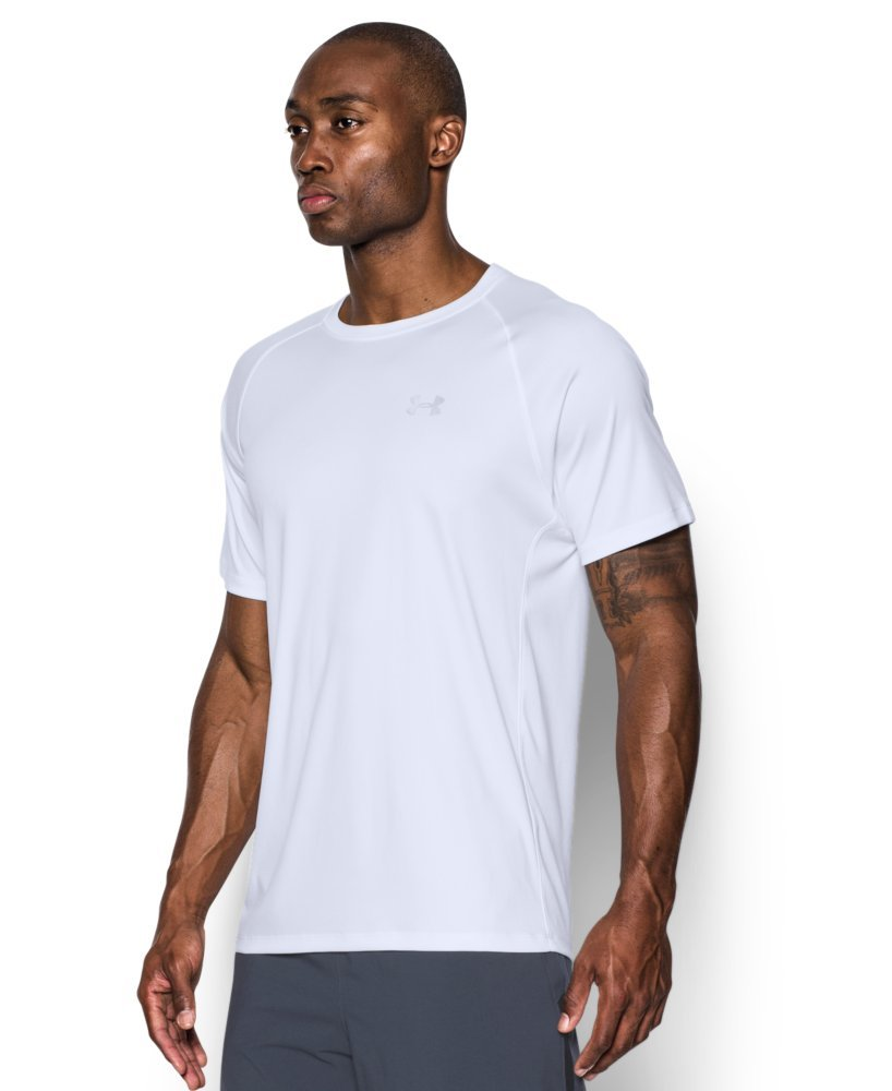 Under Armour Men's HeatGear Run Short Sleeve T-Shirt, White /Reflective, Small by Under Armour (Image #3)