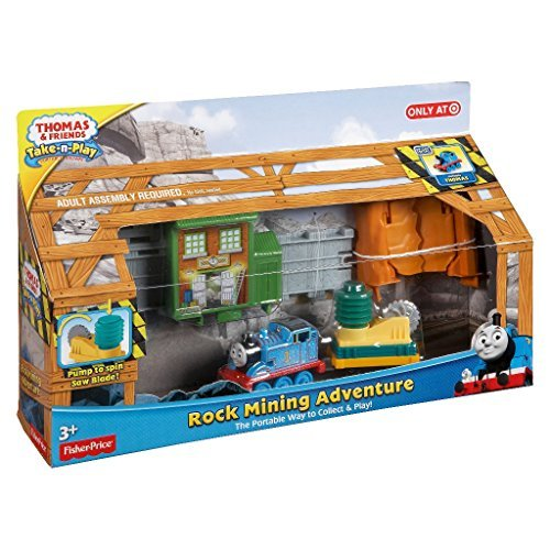Thomas /& Friends Take-n-Play ROCK MINING ADVENTURE Set with Spinning Saw