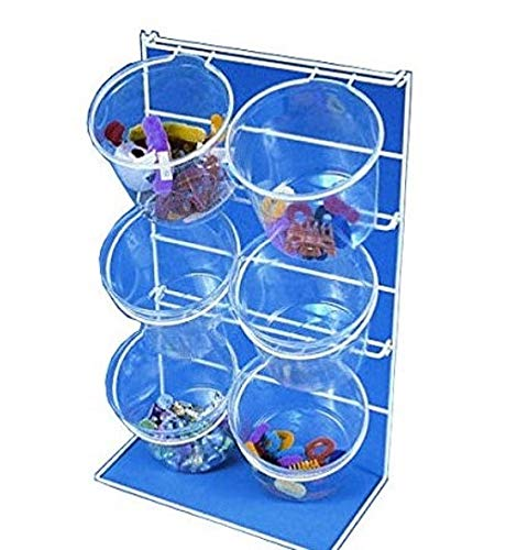 6-Jar Counter Top Display Rack Plastic 22 Inches H - Lot of 2