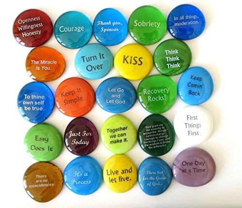 Recovery Stones, Assorted, Set of 24