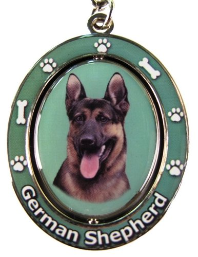 Amazon Com German Shepherd Key Chain Spinning Pet Key Chains